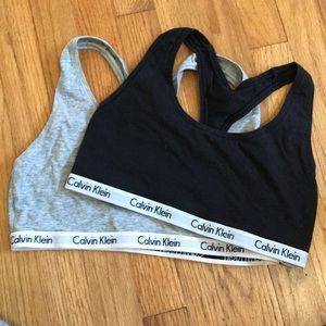 Calvin Klein sports bras